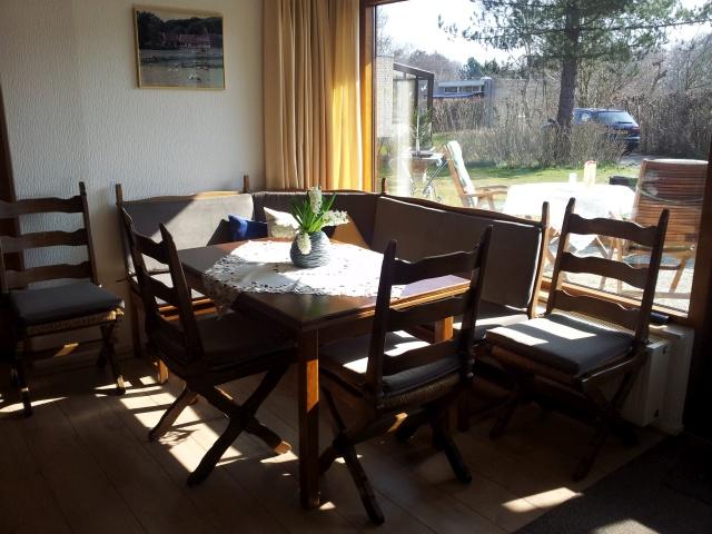 Essecke im Ferienhaus Texel