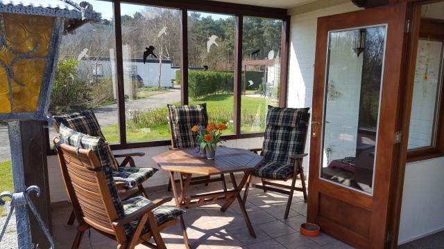 Windfang am Ferienhaus Texel
